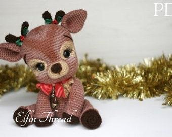 Elfin Thread- Ritva, the Christmas Reindeer PDF Amigurumi Pattern (Reindeer Crochet Pattern)