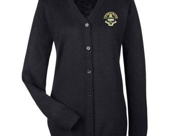 Kappa Alpha Theta Cardigan Sweater with Crest