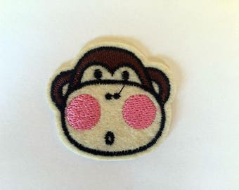 Cute Cheeky Monkey Rockabilly Hippie Sew or IRON ON PATCHES Retro Child Kid Embroidered Bag Hat Clothing Patch