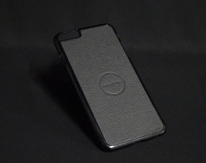Jimmy Case - Fits Apple iPhone 6 Plus + - Black Texture - Kangaroo leather - Handmade - James Watson