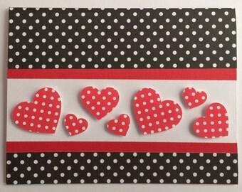 Handmade Valentine Card, Love, Happy Valentine's Day, Card