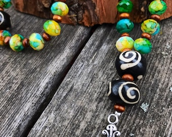 Earthy Green and Brown Prayer Beads - Anglican / Protestant