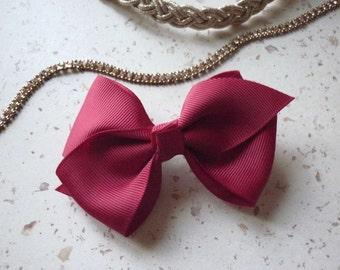 barrette pince cheveux rouge noeud papillon ruban - 9 cm de longueur (3.54 po)