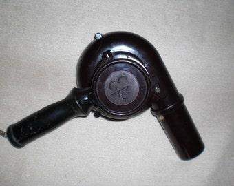 Antique hair dryer Efbe Brown bakelite vintage 50s hair dryer