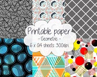 Printable paper: Geometric set