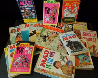 Mad Magazine and Books Instant Collection - Vintage Mad - 1970 80's - Irreverent Humor Sarcasm - Soviet Era