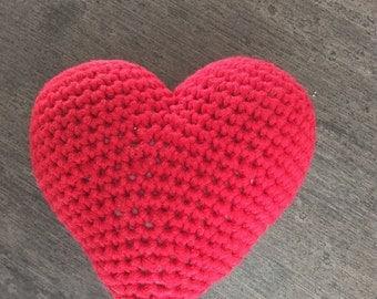 Red heart crochet