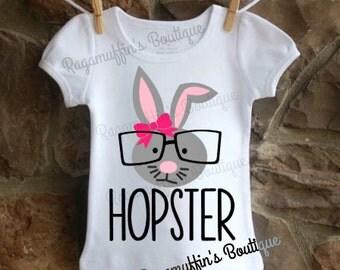 Easter shirt, Bunny shirt, Hopster, Girls Easter shirt, toddler Easter shirt, Easter Bunny shirt, Hip hop shirt, trendy shirt, hip shirt
