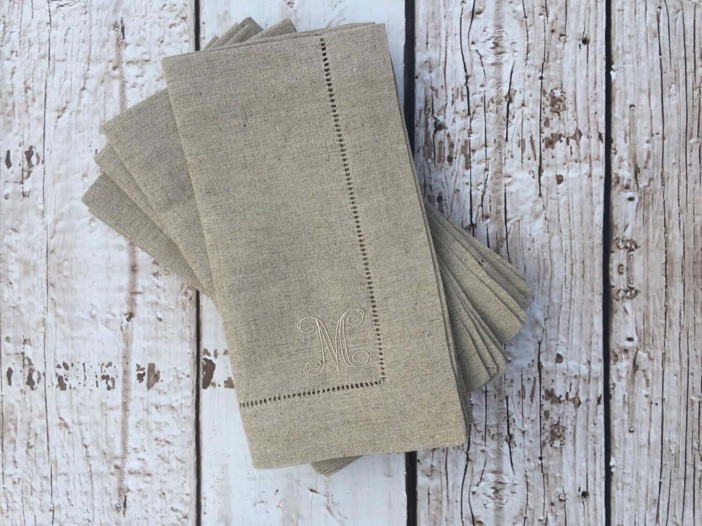 monogrammed linen dinner napkins gallery photo gallery photo gallery photo - Linen Monogrammed Napkins