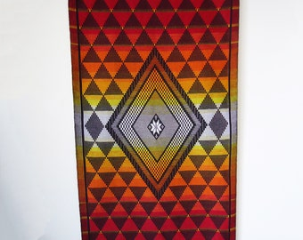 Bohemian Wall Hanger – Wall Tapestry – Vivid Vibrant Colours – Geometric Patterns – Traditional Textile – Designer Home