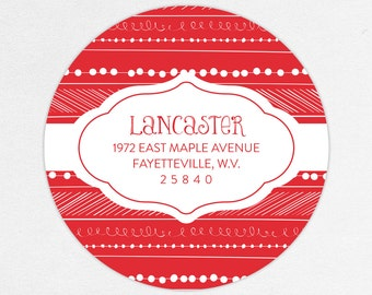 24 HOUR DIGTIAL FILE, Holiday Return Address Label, Christmas Return Address Label, Holiday Address Sticker, Christmas Address Sticker
