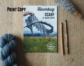 Humbug Scarf ~ PRINT COPY ~ Simple Crochet Scarf Pattern