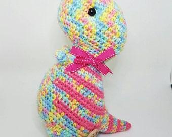T-rex crochet doll