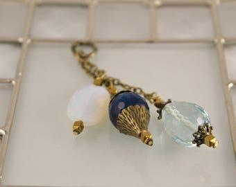Opalite, Turquoise Agate, Aqua Crystal Quartz Add On Pendant