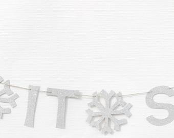 Let It Snow Garland | Let It Snow Banner | Let It Snow Decor| Let It Snow Decoration | Let It Snow | Holiday Garland | Winter Garland
