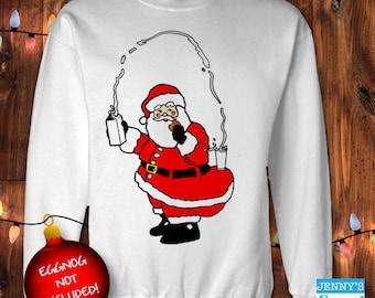 Ugly Christmas Sweater- Kardashian Santa - Kim Kardashian Santa Sweatshirt