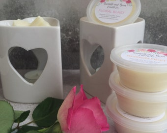 Wax Melt Starter Set | Wax Melts | White Heart Wax Warmer plus a Large Wax Melt Pot Gift Set | Mother's Day Gift Set