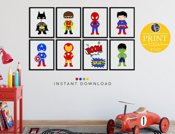 Incroyable SUPERHERO WALL ART, Superhero Prints, Instant Download, Superhero Bedroom,  Printable Superhero, Wall Art Superhero, Superhero Party Prints