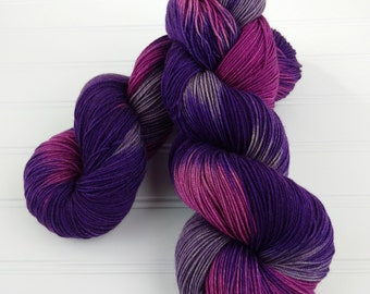 Yak Sock Yarn, Hand Dyed Yarn, Fingering Yarn. Merino Yak Nylon 437 yards 100 gr skein