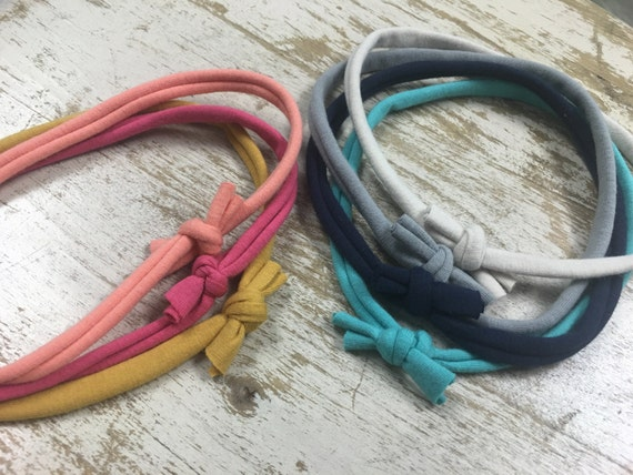 Set of 7 sweet simple baby headbands // strechy soft hairband // multicolor baby gift set solid colors