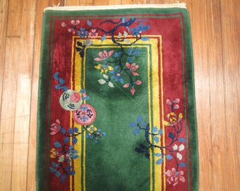 Antique Decorative Chinese Art deco Rug 2'x3'10''