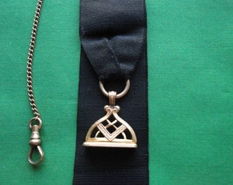 Antique B&H Mourning Ribbon Watch Fob