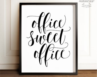 Office wall decor Etsy