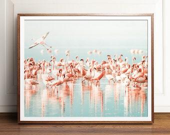 Flamingo print, PRINTABLE art, Flamingo printable, Tropical print, Large wall art, Large print, Flamingo poster, Nature print, Wall art