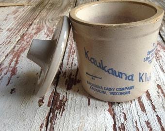 Kaukauna Klub cheese crock/vintage crock