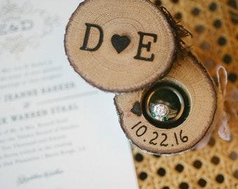 Elopement Ring Boxes Wedding Ring Box Wood Ring Box Proposal Ring Box Engagement Ring Box Wedding Ring Holder Custom Ring Box Rustic Wooden