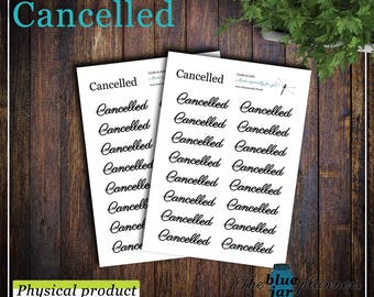 Cancelled (clear sticker paper)