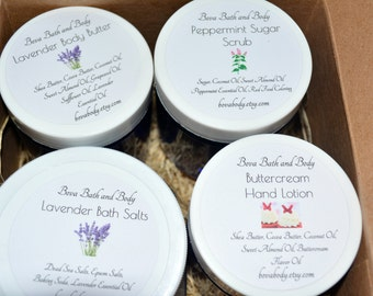 All Natural Spa Set, Bath and Body Gift Set, Gift for her, Gift for Mom, Spa Gift Set, Gift for Teacher, Gift for Athlete, Lotion Set
