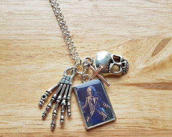 Beetlejuice charm necklace