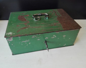 Steel moneybox, Safe / used rough style