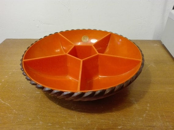 Emsa Vintage Party Bowl German Plastic by homestylecollect