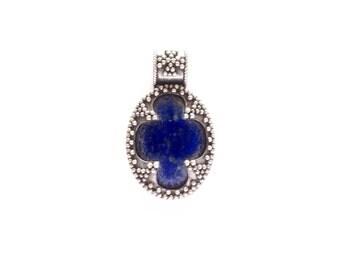 Lapis Lazuli Silver Filigree Pendant VIKING KRISTALL Gotland