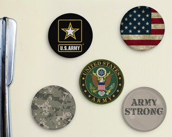 United States Army Inspired Magnets - veteran, private, general, soldier, military, navy, seal, patriotic, army ranger, air force, reserve