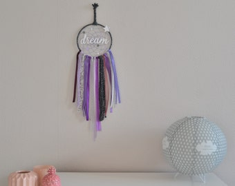 Dream catcher purple, grey and white