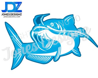 SVG Outdoors Catfish CutFile