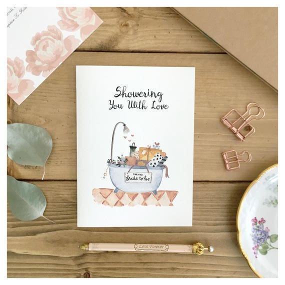 Cute Wedding Gift Ideas: BRIDAL SHOWER CARD / Bridal Shower Gift Card For Bride Cute