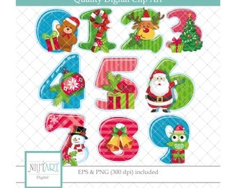 50% Off Sale Christmas clipart, Marry christmas clipart ,  holiday clipart , vector graphics, Numbers clip art, digital images-  CL 128