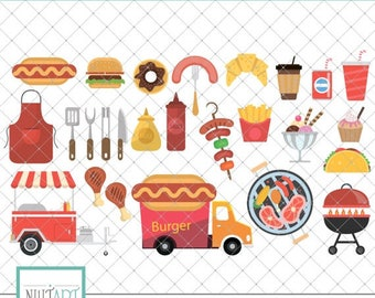 Lunch clipart | Etsy