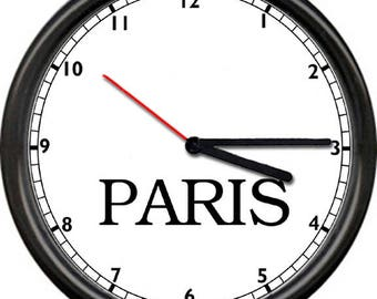 Time Zone Dubai New York Paris London Tokyo Travel Map Gift Sign Wall Clock