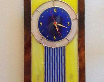 Blue Coyote Glass Wall Clock