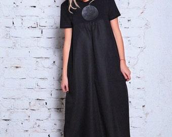 Black Caftan, Maxi Dress, Plus Size Boho Dress, A Line Dress, Prom Gown, Sun Dress, Floor Length Dress, Holiday Dress, Pleated Dress,Kaftan