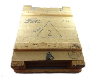 Military Wood Crate, Wood Crate, Military Ammunitions Crate, Wood Ammo Crate, Militaria Storage Crate