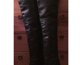 Vintage Wild Pair OTK Thigh High leather boots sz 7