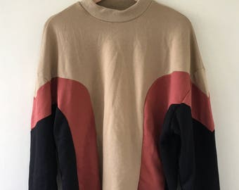 Colorblock Cropped Sweatshirt