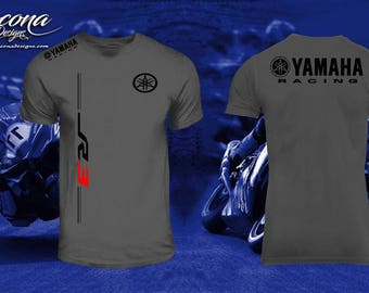 Yamaha R3 Racing Performance Shirt - Charcoal w/Black Print