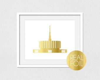 Provo Temple Foil Print // Gold Foil // Rose Gold Foil // Silver Foil // Provo Utah Temple // LDS Temple Print